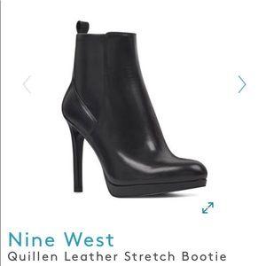 Nine West Quillin stretch bootie.  8M. Black.